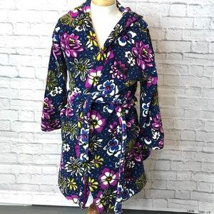 Vera Bradley Plush Fleece Hooded Bath Robe 🌼
